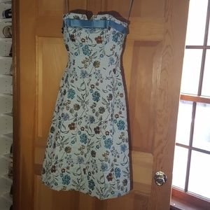One of a kind strapless Betsey Johnson tapestry